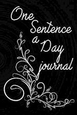 One Sentence a Day Journal