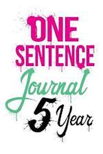 One Sentence Journal 5 Year