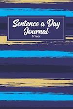 Sentence a Day Journal 5 Year