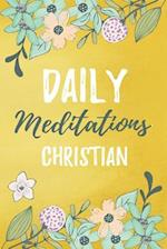 Daily Meditations Christian
