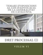 Volum VI Temari Oposicions Cos Advocacia Generalitat af Berta Bernad Sorjus, Associacio Ind Generalitat de Catalunya, Teresa Andreu Massana