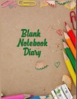 Blank Notebook Diary