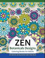 Zen Botanicals Designs Coloring Books for Adults