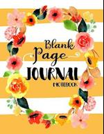 Blank Page Journal Notebook