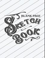 Blank Page Sketch Book