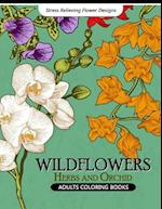 Wild Flowers Adult Coloring Books