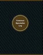 Contract Specialist Log (Logbook, Journal - 126 Pages, 8.5 X 11 Inches)