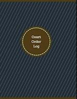 Court Order Log (Logbook, Journal - 126 Pages, 8.5 X 11 Inches)