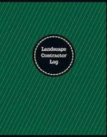 Landscape Contractor Log (Logbook, Journal - 126 Pages, 8.5 X 11 Inches)