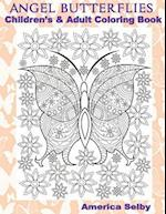 Angel Butterflies, Children's and Adult Coloring Book