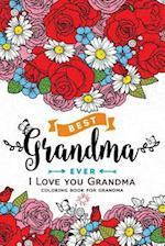 I Love You Grandma Coloring Book