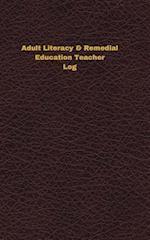 Adult Literacy & Remedial Education Teacher Log