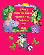 First Coloring Pages Animals for Toddlers and Kids