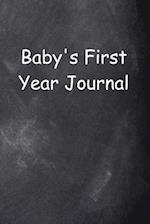Baby's First Year Journal Chalkboard Design