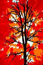 Journal Red Fall Tree
