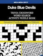 Duke Blue Devils Trivia Crossword Word Search Activity Puzzle Book
