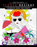 Flower Designs Coloring Books for Adults