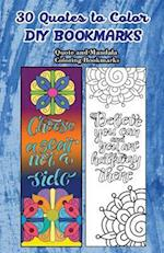 30 Quotes to Color DIY Bookmarks