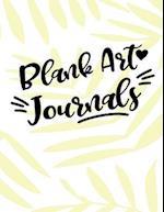 Blank Art Journals