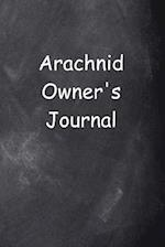 Arachnid Owner's Journal Chalkboard Design