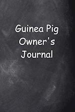 Guinea Pig Owner's Journal Chalkboard Design
