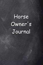 Horse Owner's Journal Chalkboard Design