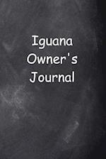 Iguana Owner's Journal Chalkboard Design