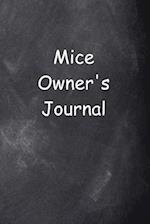 Mice Owner's Journal Chalkboard Design