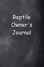 Reptile Owner's Journal Chalkboard Design