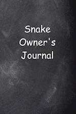 Snake Owner's Journal Chalkboard Design