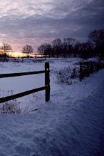 Winter Theme Journal Daybreak Sunrise Fence