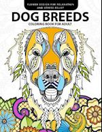 Dog Breeds Coloring Book for Adults