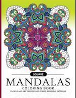 Square Mandala Coloring Book