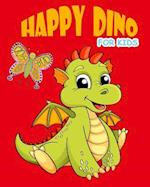Happy Dino Coloring Book for Kids