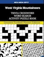 West Virginia Mountaineers Trivia Crossword Word Search Activity Puzzle Book