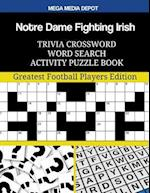 Notre Dame Fighting Irish Trivia Crossword Word Search Activity Puzzle Book