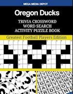 Oregon Ducks Trivia Crossword Word Search Activity Puzzle Book