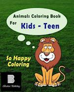 Animals Coloring Book for Teens
