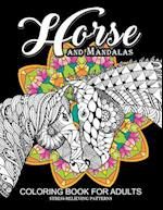 Horse and Mandala Coloring Book for Adults af Adult Coloring Books, Jupiter Coloring