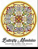 Butterfly Mandala Coloring Book for Adults