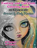 Fantasy and Fairytale Art Coloring Book in Grayscale