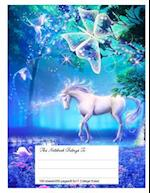 Classic Composition Book, 8.5.X 11, College Ruled, Magical Unicorn