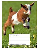 Composition Notebook for School, 8.5.X 11, Wide Ruled, Cute Goat