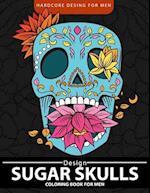 Sugar Skulls Coloring Book for Men