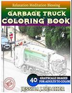 Garbage Truck Coloring Book for Adults Relaxation Meditation Blessing