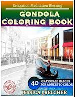 Gondola Coloring Book for Adults Relaxation Meditation Blessing