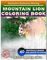 Mountain Lion Coloring Book for Adults Relaxation Meditation Blessing