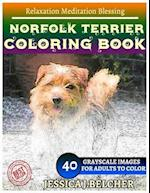 Norfolk Terrier Coloring Book for Adults Relaxation Meditation Blessing