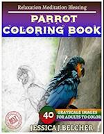 Parrot Coloring Book for Adults Relaxation Meditation Blessing
