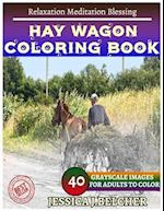 Hay Wagon Coloring Book for Adults Relaxation Meditation Blessing